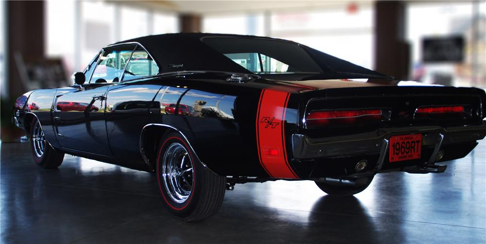 1969 DODGE CHARGER R/T COUPE - Rear 3/4 - 102313