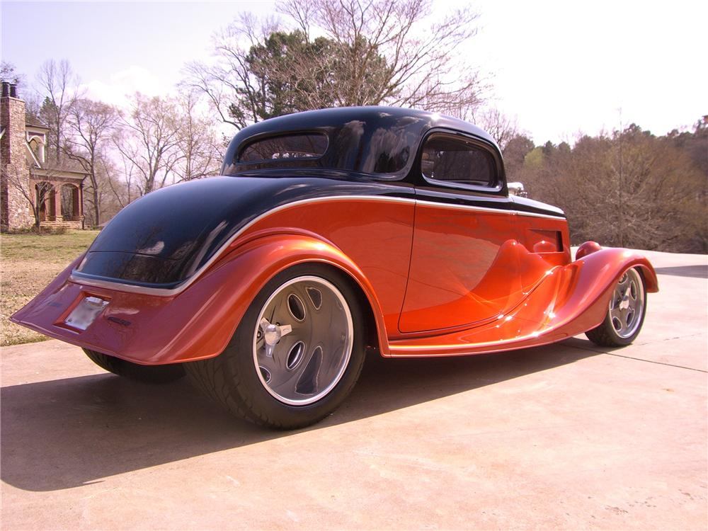 1934 ford 3 window custom 2 door coupe 102315