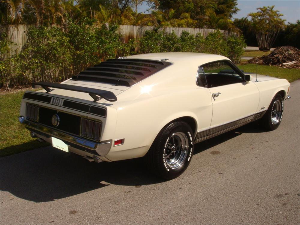 1970 FORD MUSTANG MACH 1 FASTBACK - Rear 3/4 - 102316