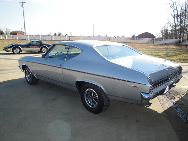 1969 CHEVROLET CHEVELLE SS 396 2 DOOR COUPE - Rear 3/4 - 102533