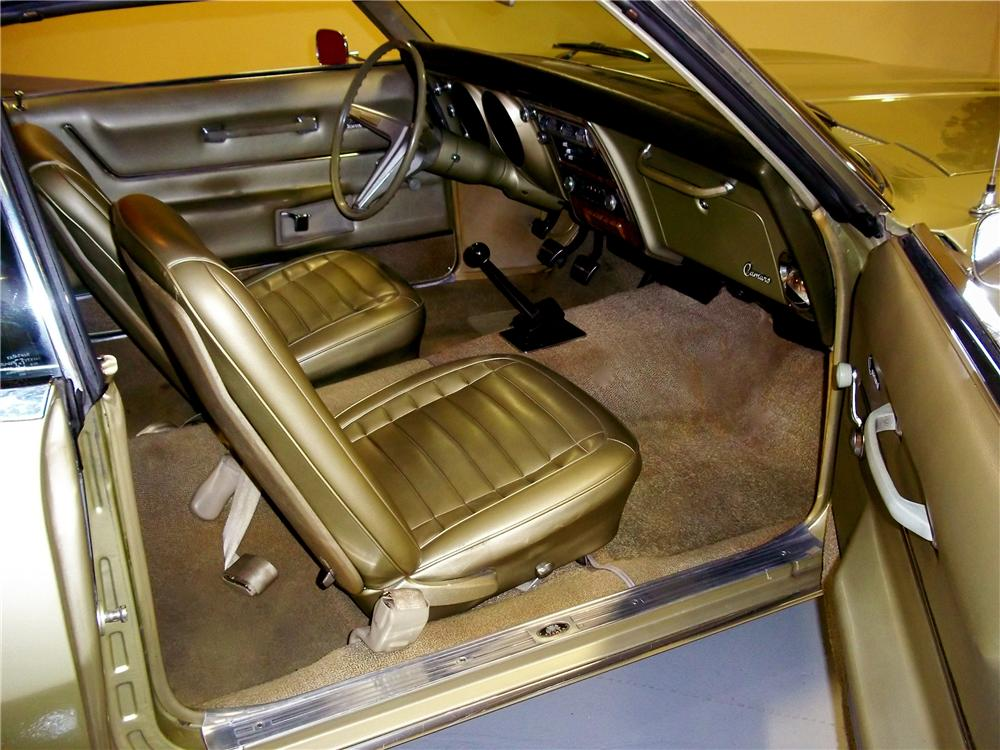 1968 CHEVROLET CAMARO 2 DOOR COUPE - Interior - 102714
