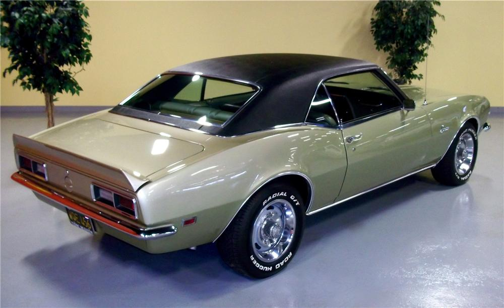 1968 CHEVROLET CAMARO 2 DOOR COUPE - Rear 3/4 - 102714