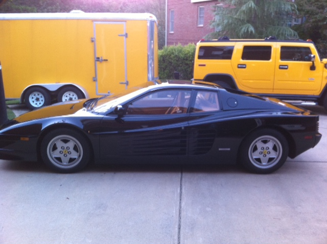 1990 FERRARI TESTAROSSA 2 DOOR HARDTOP - Side Profile - 103093