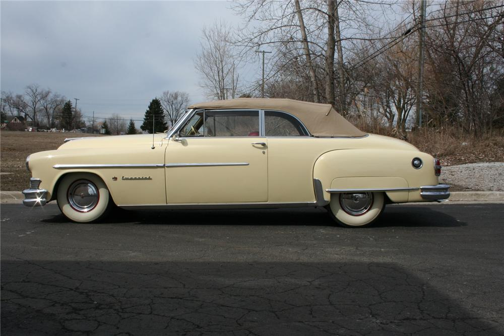1951 CHRYSLER IMPERIAL CONVERTIBLE - Side Profile - 103393