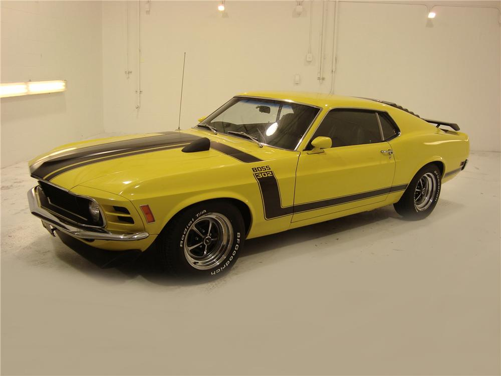 1970 FORD MUSTANG BOSS 302 2 DOOR FASTBACK - Front 3/4 - 104133
