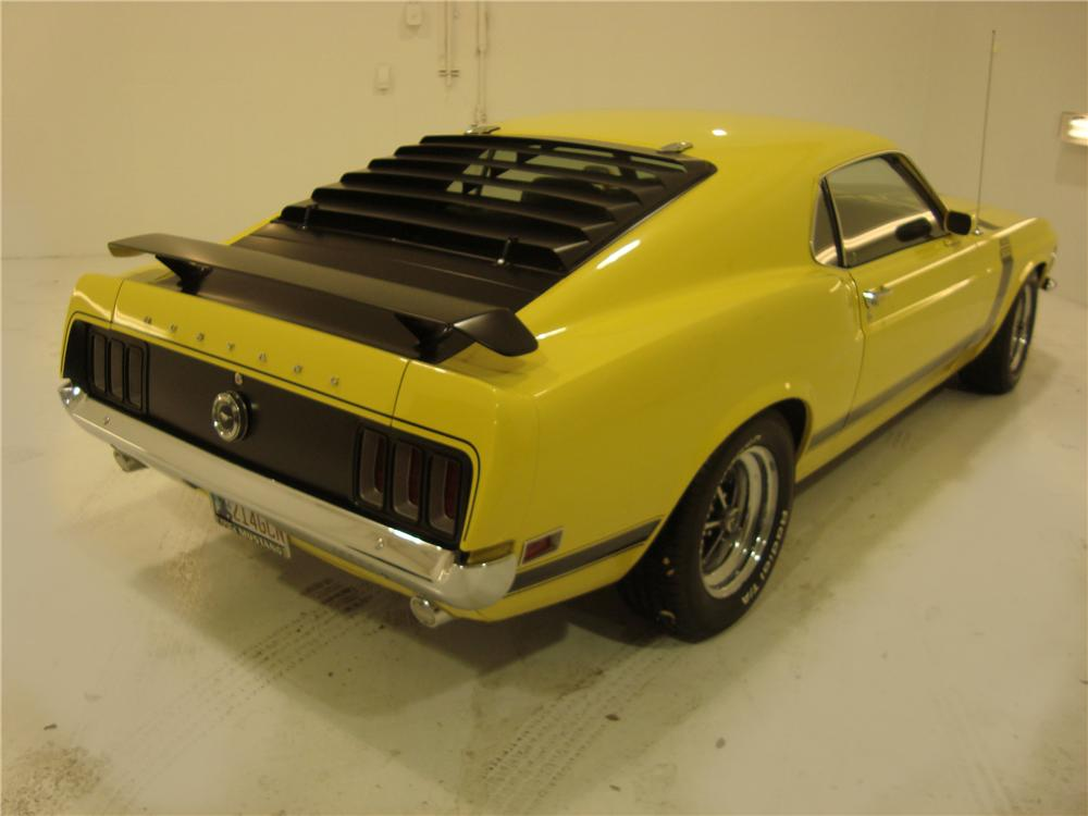 1970 FORD MUSTANG BOSS 302 2 DOOR FASTBACK - Rear 3/4 - 104133