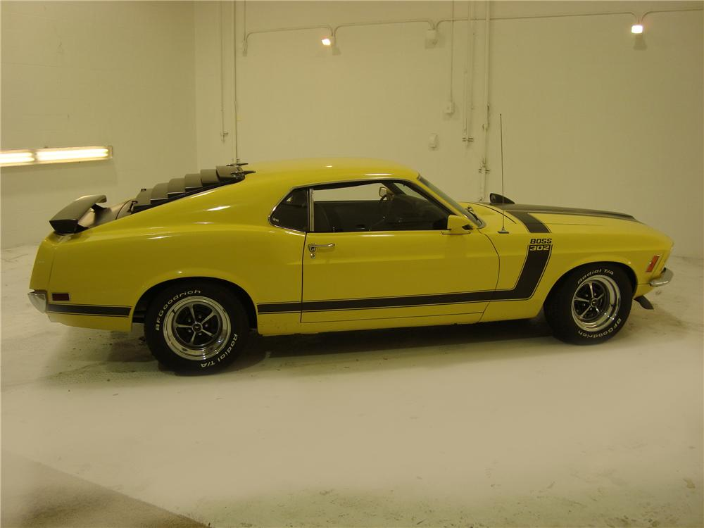 1970 FORD MUSTANG BOSS 302 2 DOOR FASTBACK - Side Profile - 104133
