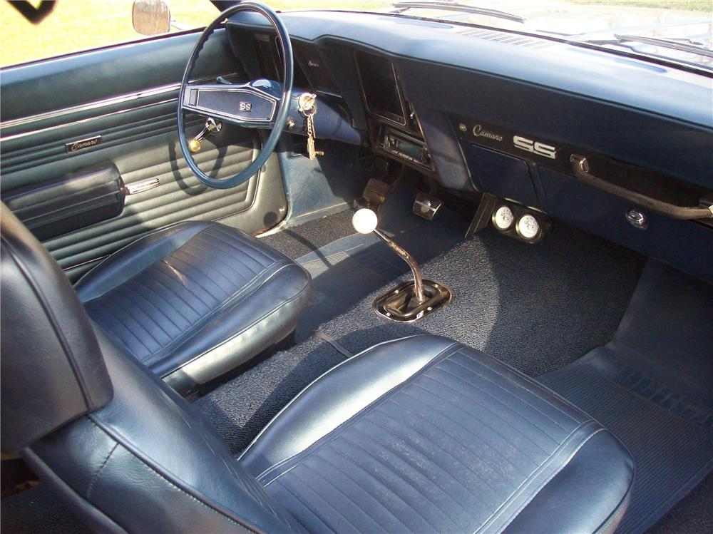 1969 CHEVROLET CAMARO SS 2 DOOR COUPE - Interior - 104233
