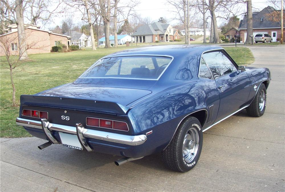 1969 CHEVROLET CAMARO SS 2 DOOR COUPE - Rear 3/4 - 104233