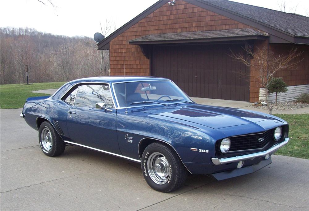 1969 CHEVROLET CAMARO SS 2 DOOR COUPE - Side Profile - 104233