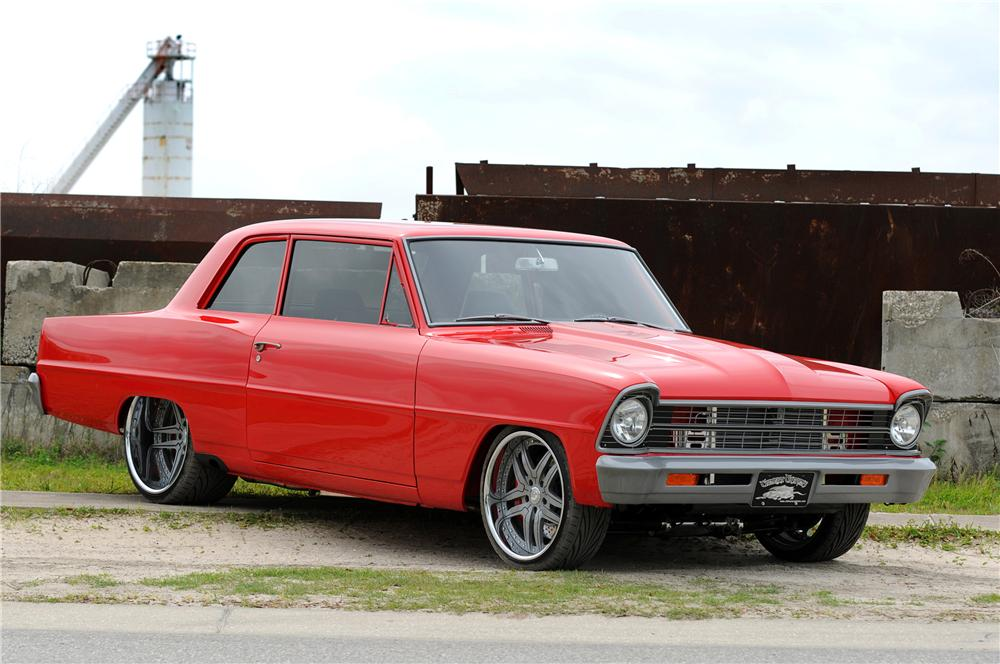 1967 CHEVROLET NOVA CUSTOM 2 DOOR HARDTOP - Front 3/4 - 104633