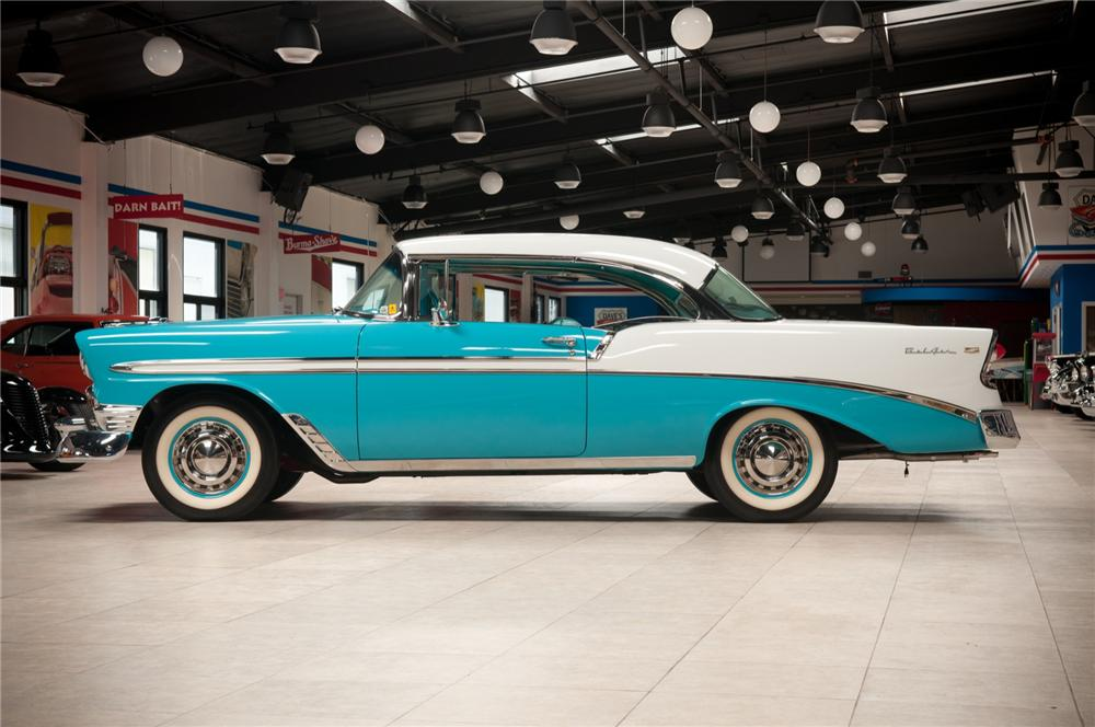 1956 CHEVROLET BEL AIR 2 DOOR HARDTOP - Side Profile - 108093