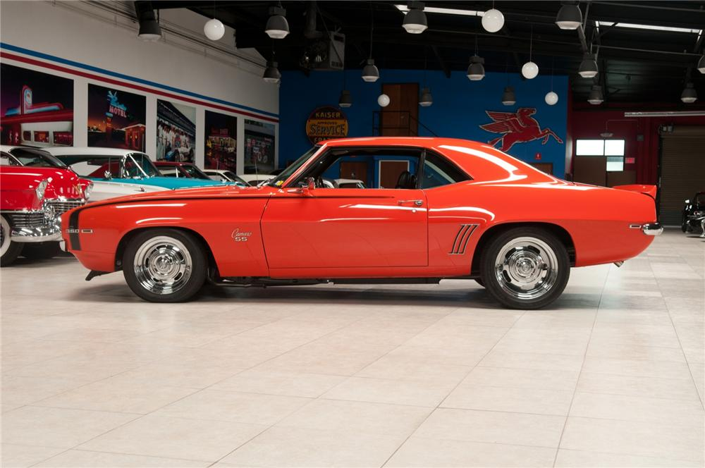 1969 CHEVROLET CAMARO CUSTOM COUPE - Side Profile - 108094