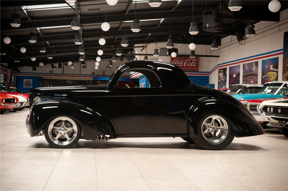 1941 WILLYS AMERICAR CUSTOM COUPE - Side Profile - 108100