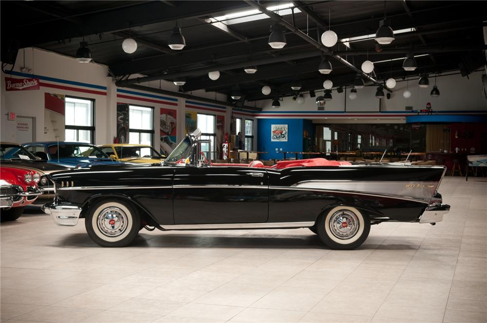1957 CHEVROLET BEL AIR CONVERTIBLE - Side Profile - 108101
