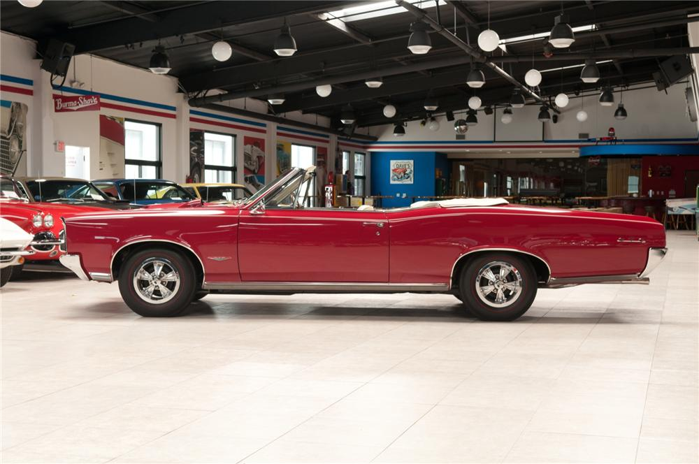 1966 PONTIAC GTO CONVERTIBLE - Side Profile - 108102