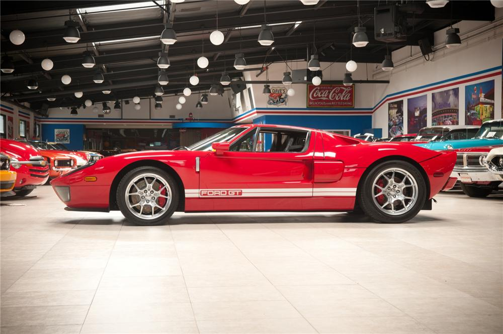 2005 FORD GT COUPE - Side Profile - 108106