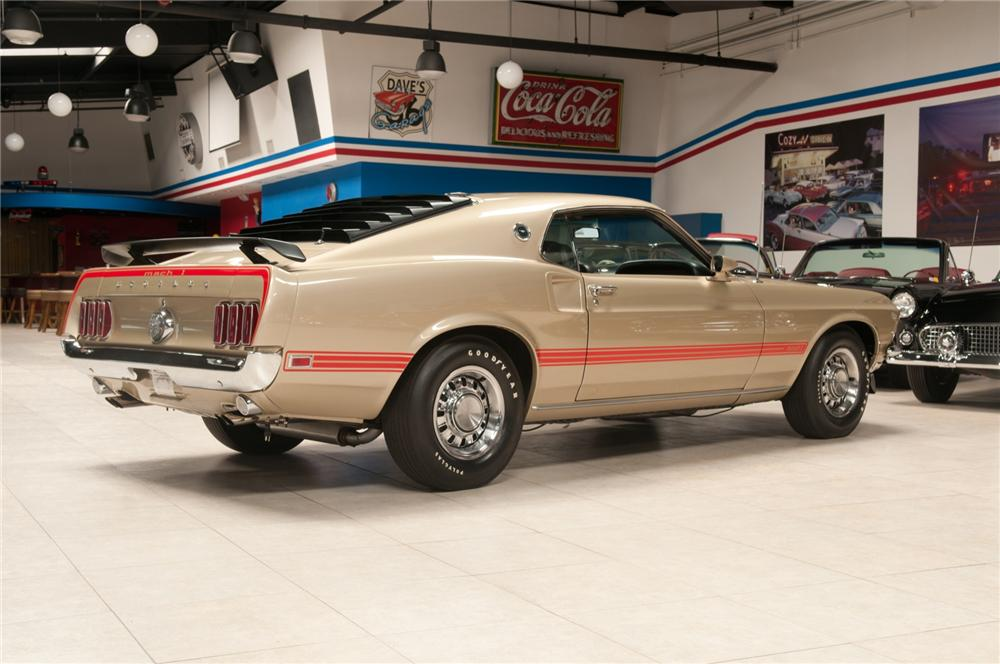 1969 FORD MUSTANG MACH 1 428 SCJ FASTBACK - Rear 3/4 - 108120