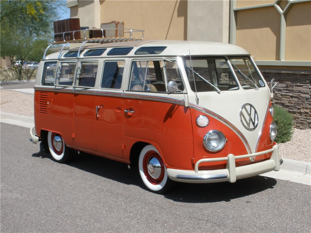 1965 volkswagen 21 window custom samba bus 108123