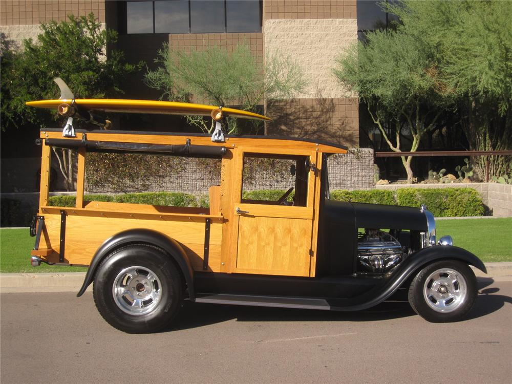 1929 FORD MODEL A HUCKSTER CUSTOM WOODY - Side Profile - 108140