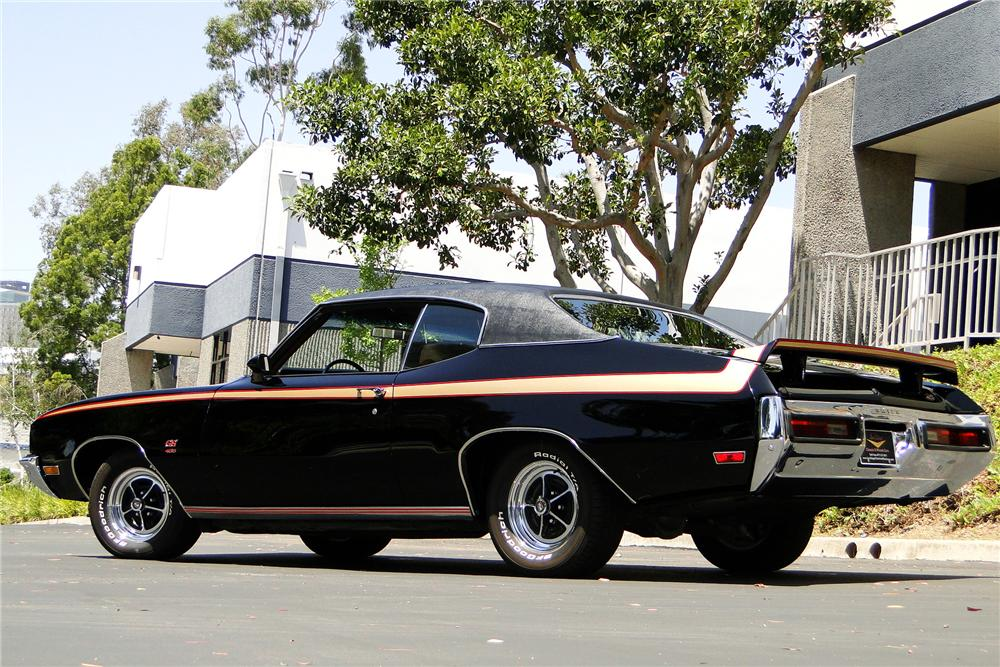 1972 BUICK GS455 COUPE - Rear 3/4 - 108153