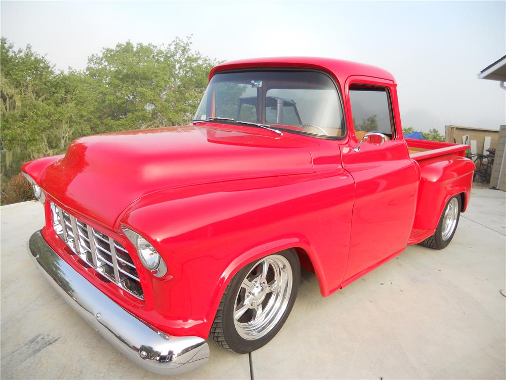 1955 CHEVROLET 3100 CUSTOM PICKUP - Front 3/4 - 108162