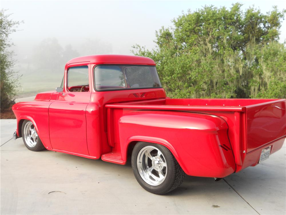 1955 CHEVROLET 3100 CUSTOM PICKUP - Rear 3/4 - 108162