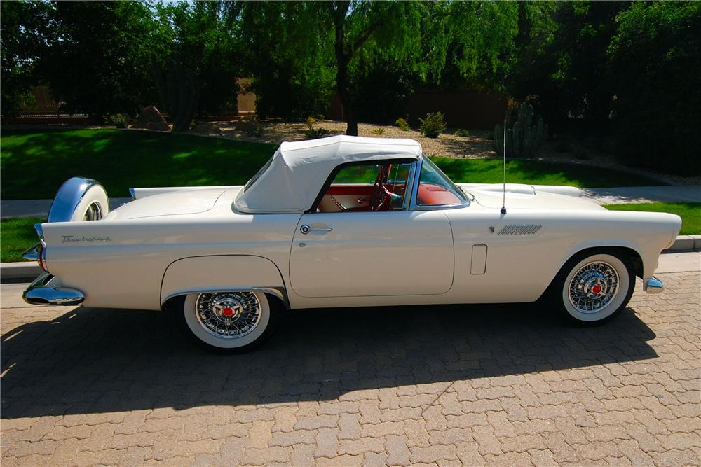 1956 FORD THUNDERBIRD CONVERTIBLE - Side Profile - 108169