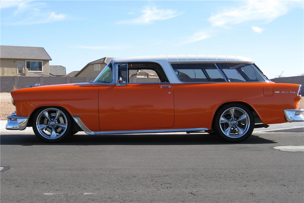 1955 CHEVROLET NOMAD CUSTOM STATION WAGON - 108175
