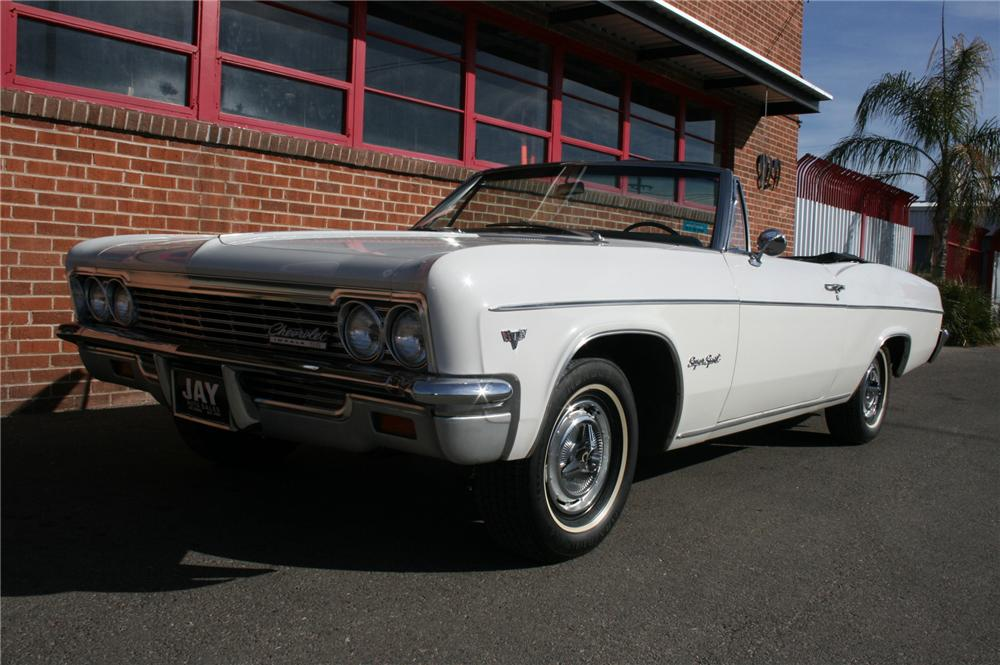 1966 CHEVROLET IMPALA SS CONVERTIBLE - Front 3/4 - 108177