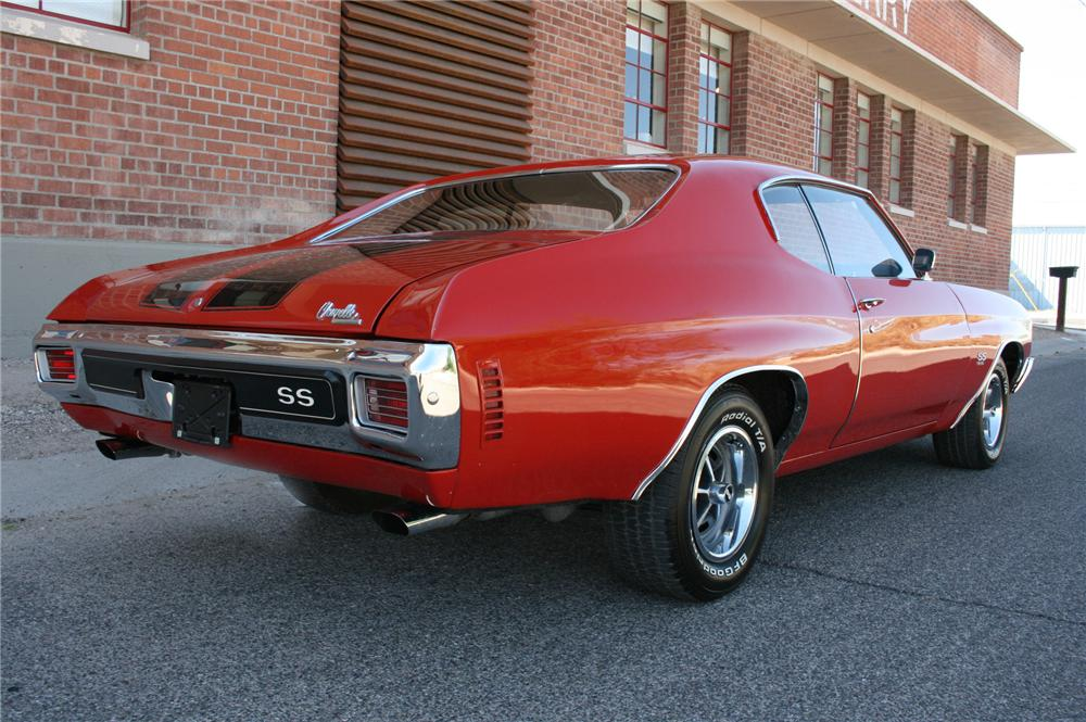 1970 CHEVROLET CHEVELLE SS 2 DOOR COUPE - Rear 3/4 - 108180