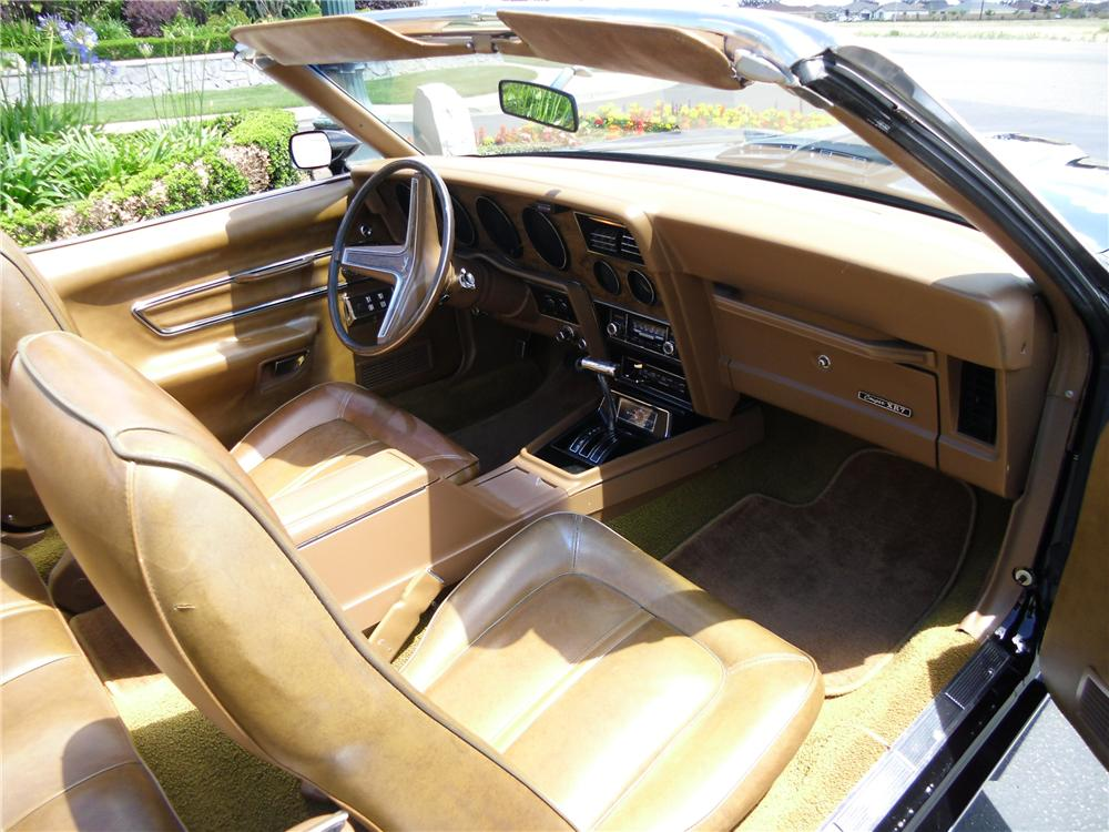 1973 MERCURY COUGAR XR7 CONVERTIBLE - Interior - 108186