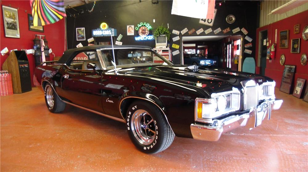 1973 MERCURY COUGAR XR7 CONVERTIBLE - Rear 3/4 - 108186
