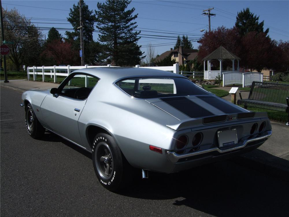 1970 CHEVROLET CAMARO Z/28 2 DOOR HARDTOP - Rear 3/4 - 108197