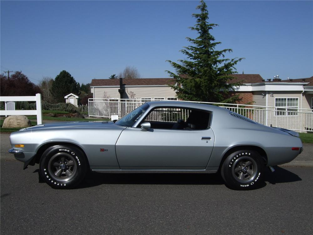 1970 CHEVROLET CAMARO Z/28 2 DOOR HARDTOP - Side Profile - 108197
