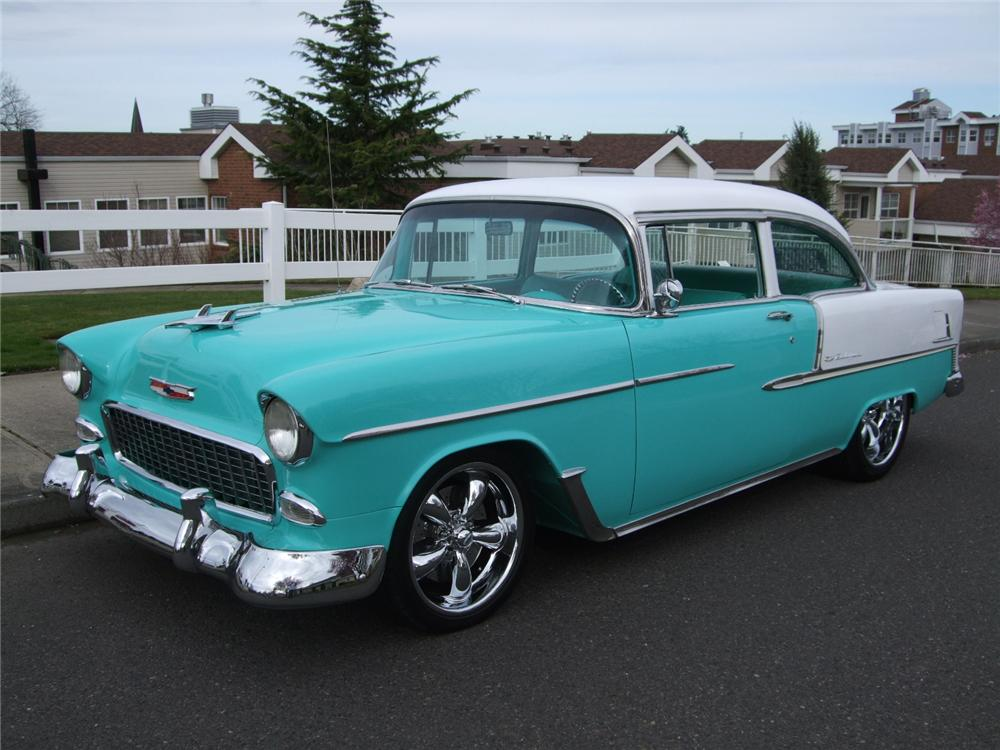 1955 CHEVROLET 150 2 DOOR CUSTOM SEDAN - Front 3/4 - 108201