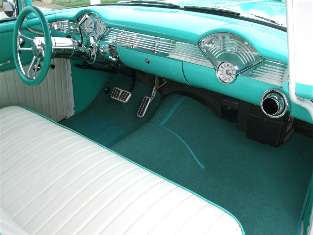 1955 CHEVROLET 150 2 DOOR CUSTOM SEDAN - Interior - 108201