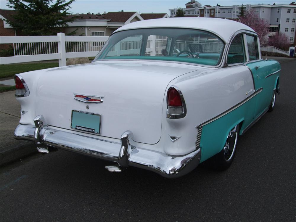 1955 CHEVROLET 150 2 DOOR CUSTOM SEDAN - Rear 3/4 - 108201