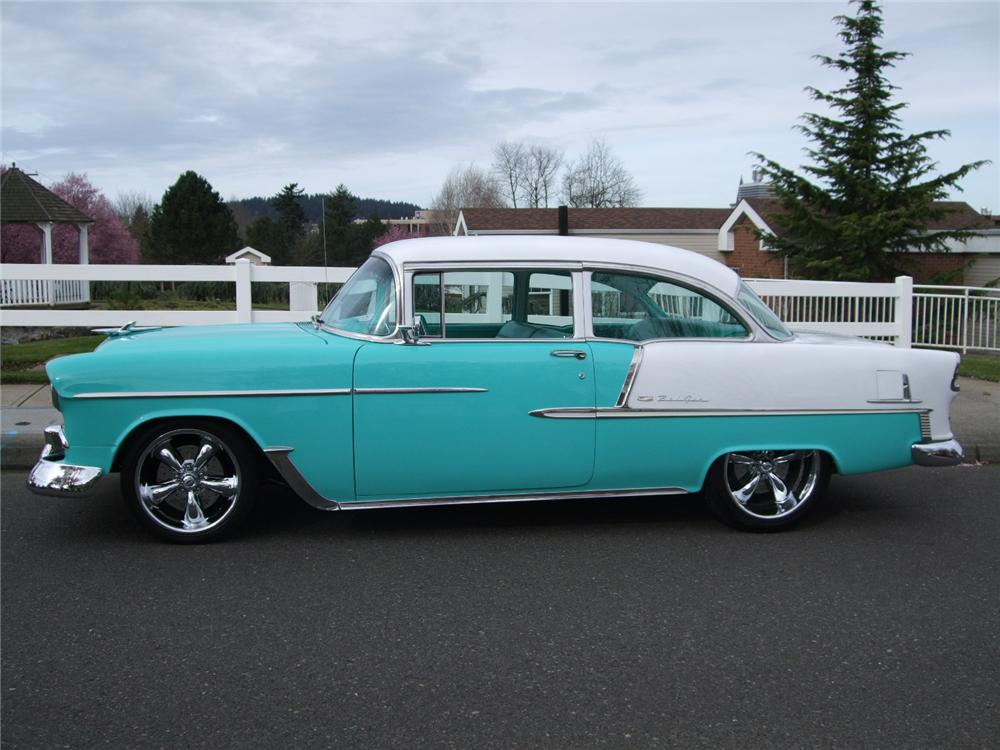 1955 CHEVROLET 150 2 DOOR CUSTOM SEDAN - Side Profile - 108201