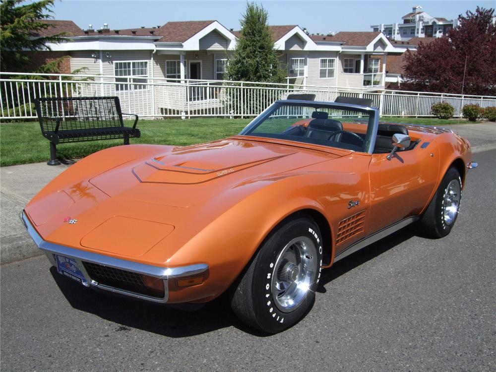 1972 CHEVROLET CORVETTE CONVERTIBLE - Front 3/4 - 108202