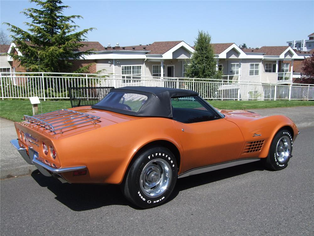 1972 CHEVROLET CORVETTE CONVERTIBLE - Rear 3/4 - 108202