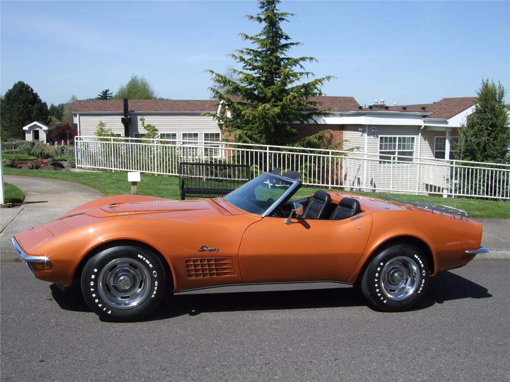 1972 CHEVROLET CORVETTE CONVERTIBLE - Side Profile - 108202