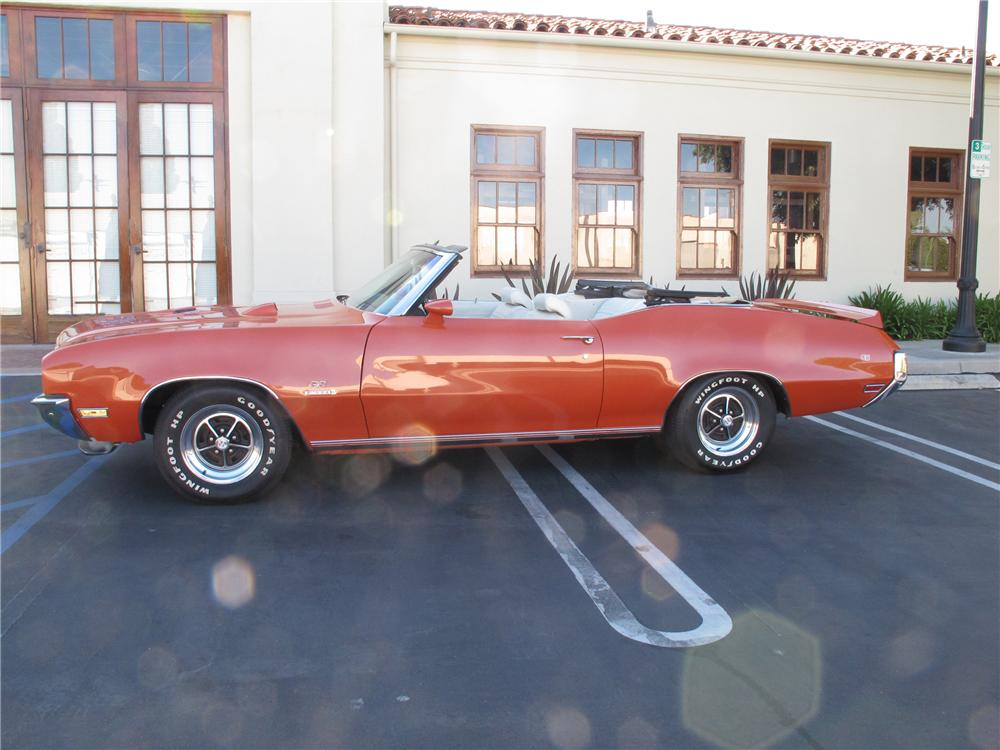 1972 BUICK GS 455 STAGE 1 CONVERTIBLE - Side Profile - 108220