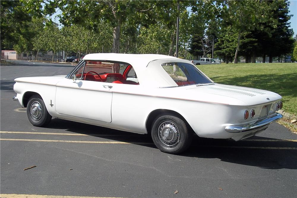 1962 CHEVROLET CORVAIR CONVERTIBLE - Side Profile - 108225