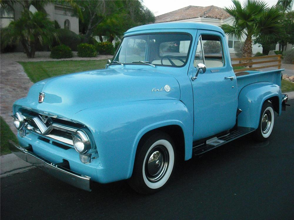 1955 FORD F-1 PICKUP - Front 3/4 - 108228