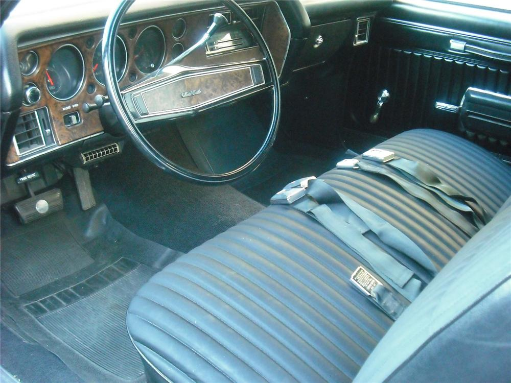 1970 CHEVROLET MONTE CARLO 2 DOOR COUPE - Interior - 108242