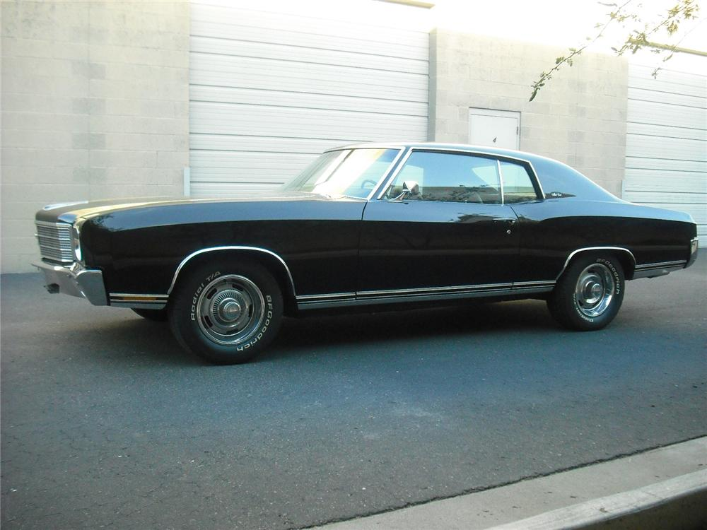 1970 CHEVROLET MONTE CARLO 2 DOOR COUPE - Side Profile - 108242