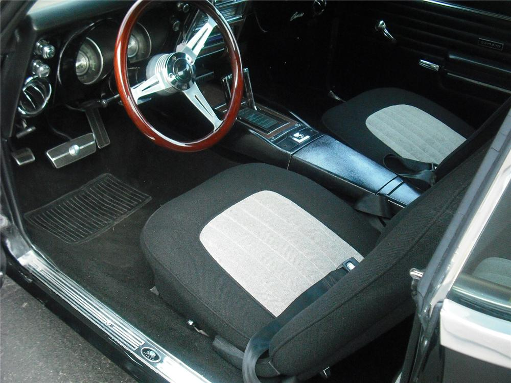 1968 CHEVROLET CAMARO 2 DOOR CUSTOM COUPE - Interior - 108250