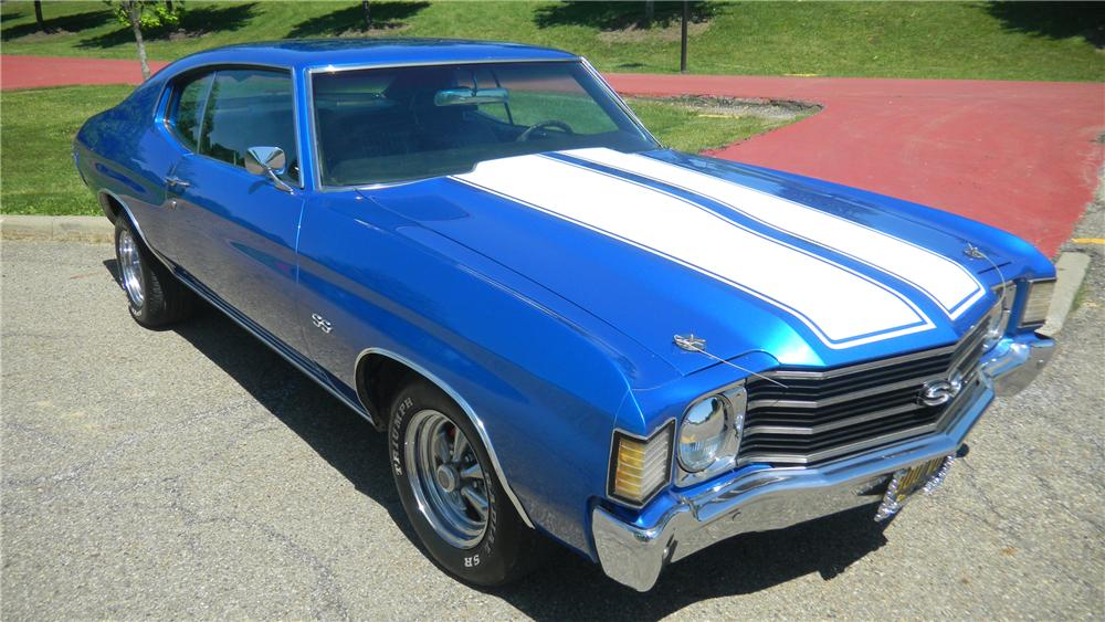 1972 CHEVROLET CHEVELLE 2 DOOR CUSTOM COUPE - Front 3/4 - 108261