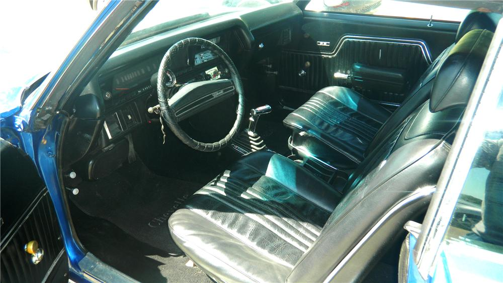 1972 CHEVROLET CHEVELLE 2 DOOR CUSTOM COUPE - Interior - 108261